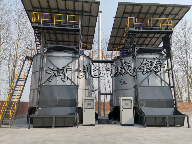 江苏长岭县诚铸生物科技有限公司有机肥设备安装完毕