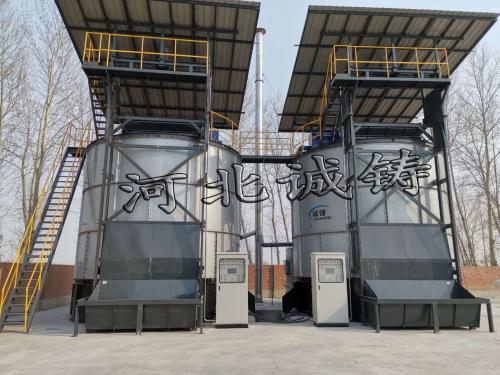 长岭县诚铸生物科技有限公司有机肥设备安装完毕